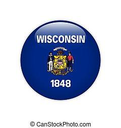 Flag Wisconsin button