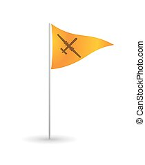 Flag with a drone