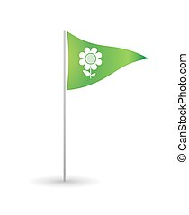 Flag with a flower