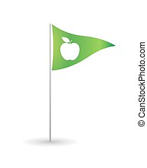 Flag with a fruit
