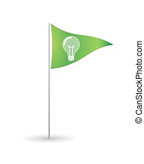 Flag with a lightbulb