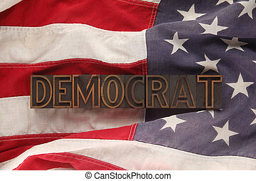 flag with Democrat word