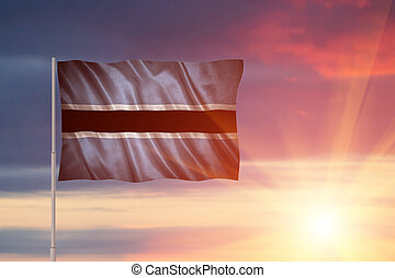 Flag of the Botswana