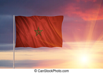 Flag of the Morocco