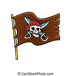 flag with pirate symbol