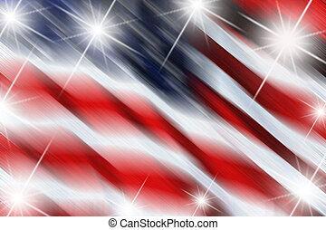 flag with stars - flag with bur and stars