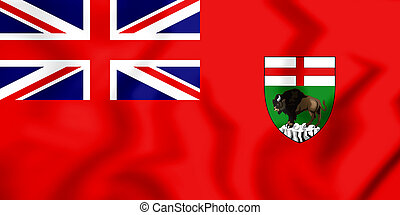 Flag_of_the_Province_of_Manitoba - 3D Flag of Manitoba,...