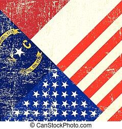 flag.eps, caroline, nouveau, grunge, usa