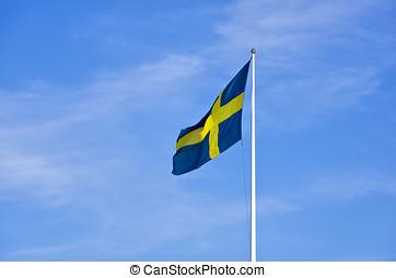 flagg, de, suecia