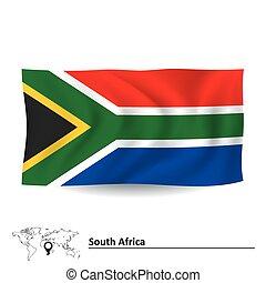 flagga, afrika, syd