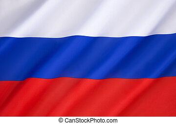 flagga, av, den, rysk federation
