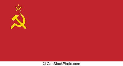 flagga, av, den, sovjetisk sammanslagning