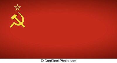 flagga, av, den, sovjetmedborgare, union.