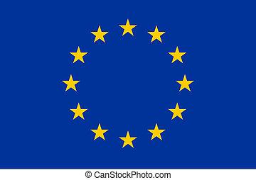 flagga, av, europa