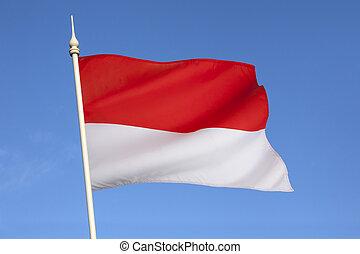 flagga, av, indonesien