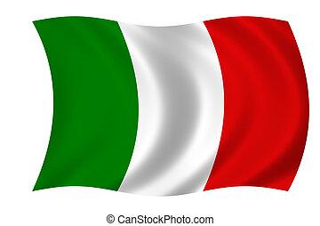 flagga, av, italien