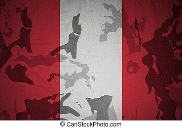 flagga, av, peru, på, den, kaki, struktur, ., militär, begrepp