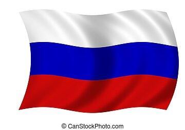 flagga, av, ryssland