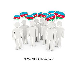 flagga, azerbajdzjan, folk