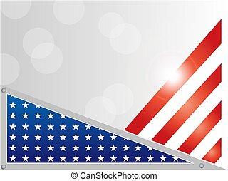 flagga, bakgrund, amerikan, ram