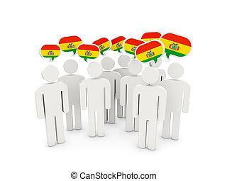 flagga, bolivia, folk