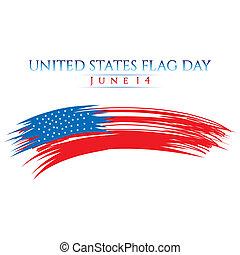 flagga, dag