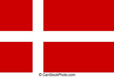 flagga, dansk