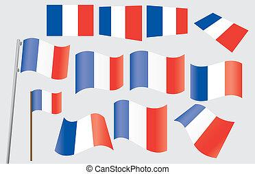 flagga, fransk