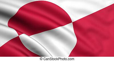 flagga, grönland
