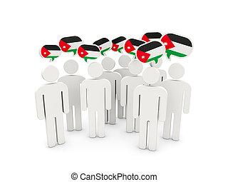 flagga, jordanien, folk