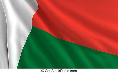 flagga, madagaskar