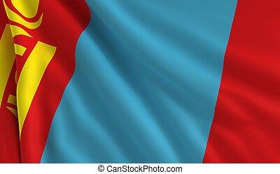 flagga, mongoliet
