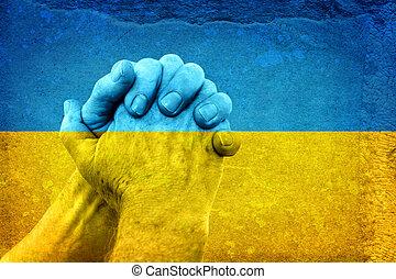 flagga, räcker, ukrainsk