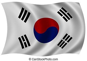 flagga, södra korea