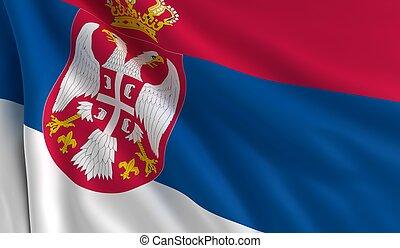 flagga, serbien