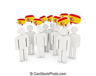 flagga, spanien, folk