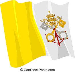 flagga, vatikanen