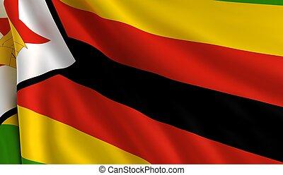 flagga, zimbabwe