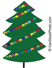 flaggen, baum, weihnachten