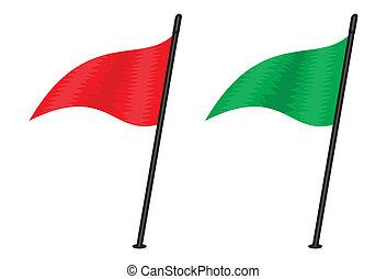 flaggen, dreieckig