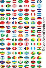 flaggen, ofl, länder