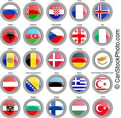 flaggen, von, der, europe.
