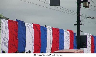 flaggen, wind