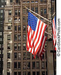 Flags and Brownstone