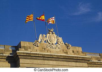 Flags at the Generalitat Palace