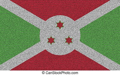 Flags Burundi on denim texture. Vector