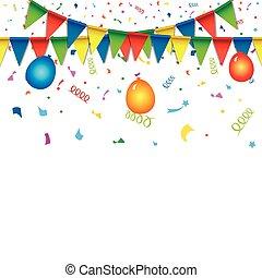 flags., coloreado, patrón, seamless, feriado, brillante, celebración