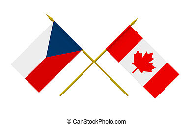 Flags, Czech Republic and Canada - Flags of Czech Republic...