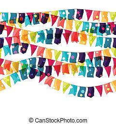 flags., farvet, mønster, seamless, ferie, skinnende, fest