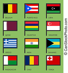 Flags flat set-02
